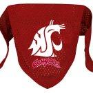 Washington State Cougars Pet Dog Football Jersey Bandana M/L