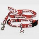 Cincinnati Reds Pet Dog Leash Set Collar ID Tag Large
