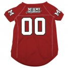 Miami of Ohio University Redhawks Pet Dog Football Jersey Medium