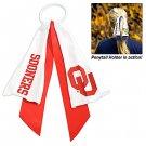 Oklahoma University Sooners Ponytail Holder Hair Tie Ribbon