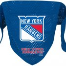 NY New York Rangers Pet Dog Hockey Jersey Bandana S/M