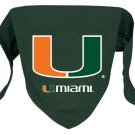 Miami University Hurricanes Pet Dog Football Jersey Bandana M/L