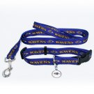 Baltimore Ravens Pet Dog Leash Set Collar ID Tag XS