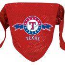 Texas Rangers Pet Dog Baseball Jersey Bandana S/M