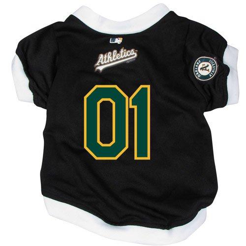 Oakland Athletics A's Pet Dog Baseball Jersey w/Buttons Small