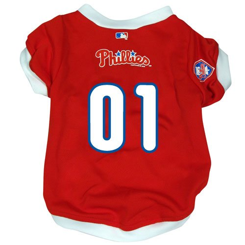 Philadelphia Phillies Pet Dog Baseball Jersey w/Buttons Small