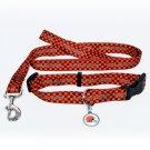 Cleveland Browns Pet Dog Leash Set Collar ID Tag Medium