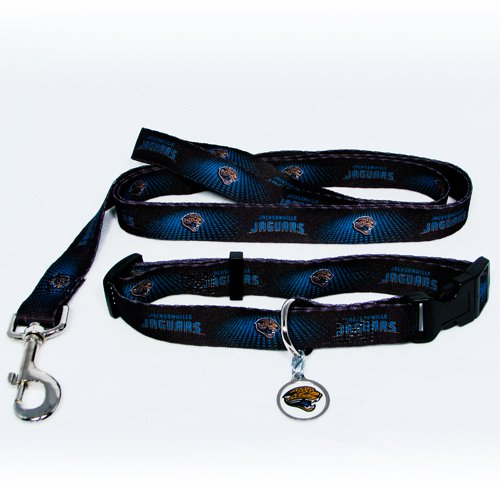 Jacksonville Jaguars Pet Dog Leash Set Collar ID Tag Medium