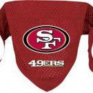 San Francisco 49ers Pet Dog Football Jersey Bandana S/M