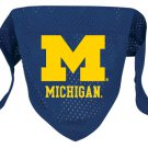Michigan University Wolverines Pet Dog Football Jersey Bandana M/L