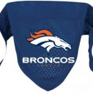 Denver Broncos Pet Dog Football Jersey Bandana S/M