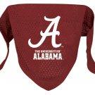 Alabama University Crimson Tide Pet Dog Football Jersey Bandana S/M