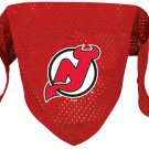 NJ New Jersey Devils Pet Dog Hockey Jersey Bandana M/L