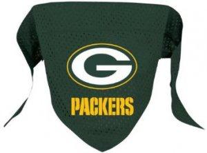 Green Bay Packers Pet Dog Football Jersey Bandana S/M