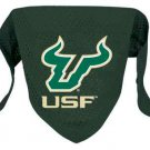 South Florida University Bulls Pet Dog Football Jersey Bandana M/L