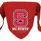 North Carolina State Wolfpack Pet Dog Football Jersey Bandana S/M