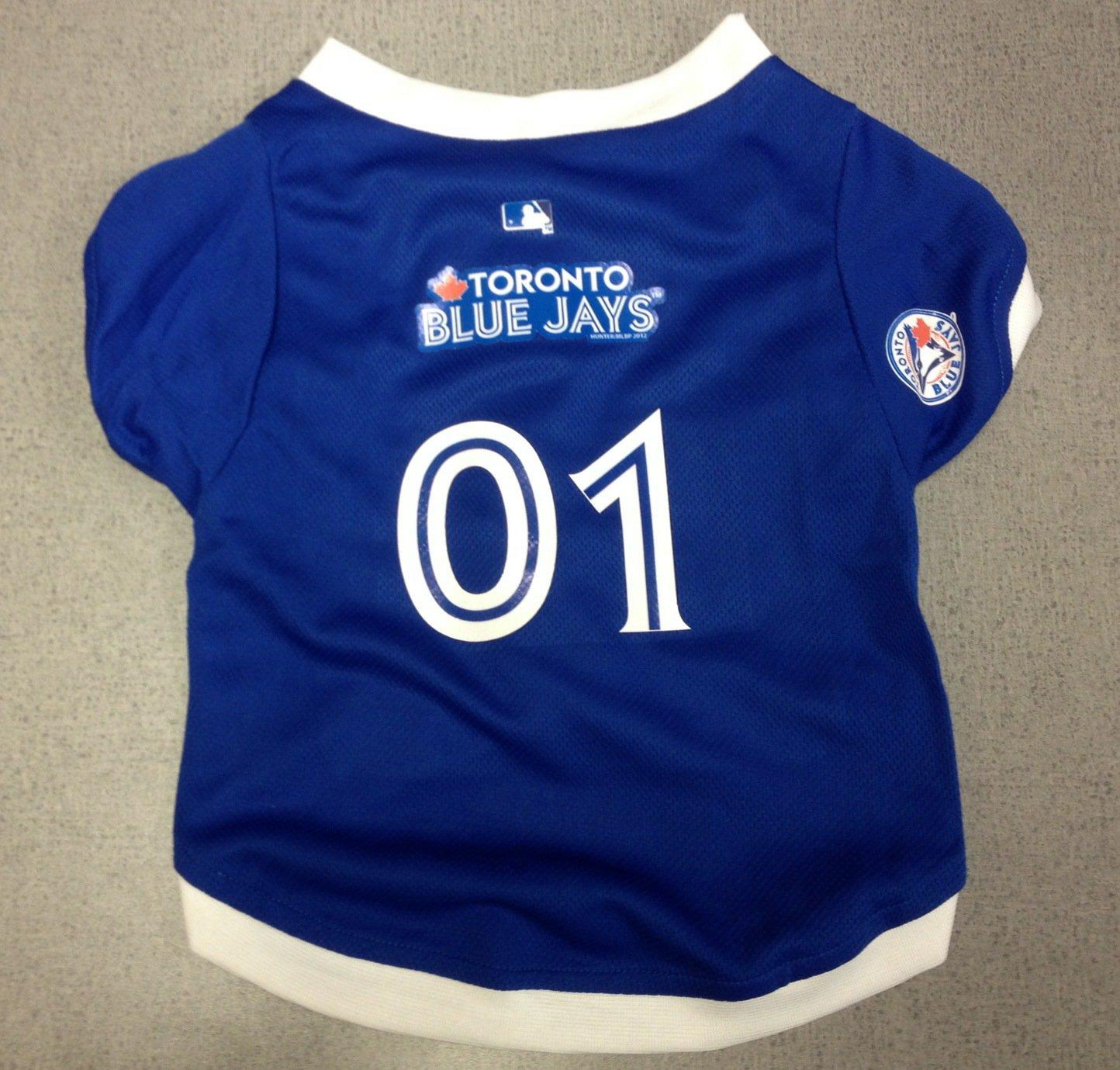 Toronto Blue Jays Pet Dog Baseball Jersey w/Buttons Medium