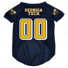 Georgia Tech University Yellow Jackets Pet Dog Football Jersey Large