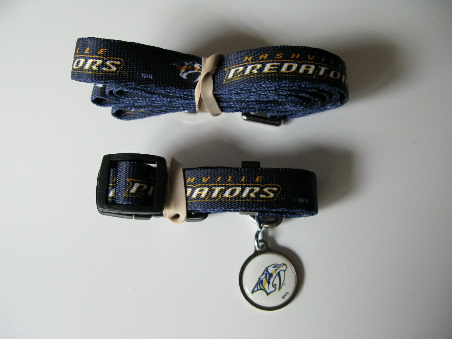 Nashville Predators Pet Dog Leash Set Collar ID Tag Gift Size Small