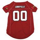 Louisville University Cardinals Pet Dog Football Jersey Medium