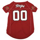 Maryland University Terrapins Pet Dog Football Jersey Large