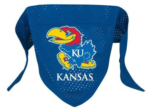Kansas University Jayhawks Pet Dog Football Jersey Bandana S/M