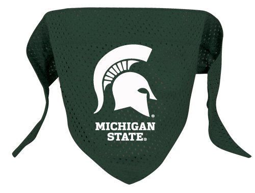 Michigan State Spartans Pet Dog Football Jersey Bandana S/M