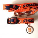 Syracuse University Orangemen Pet Dog Set Leash Collar ID Tag Medium