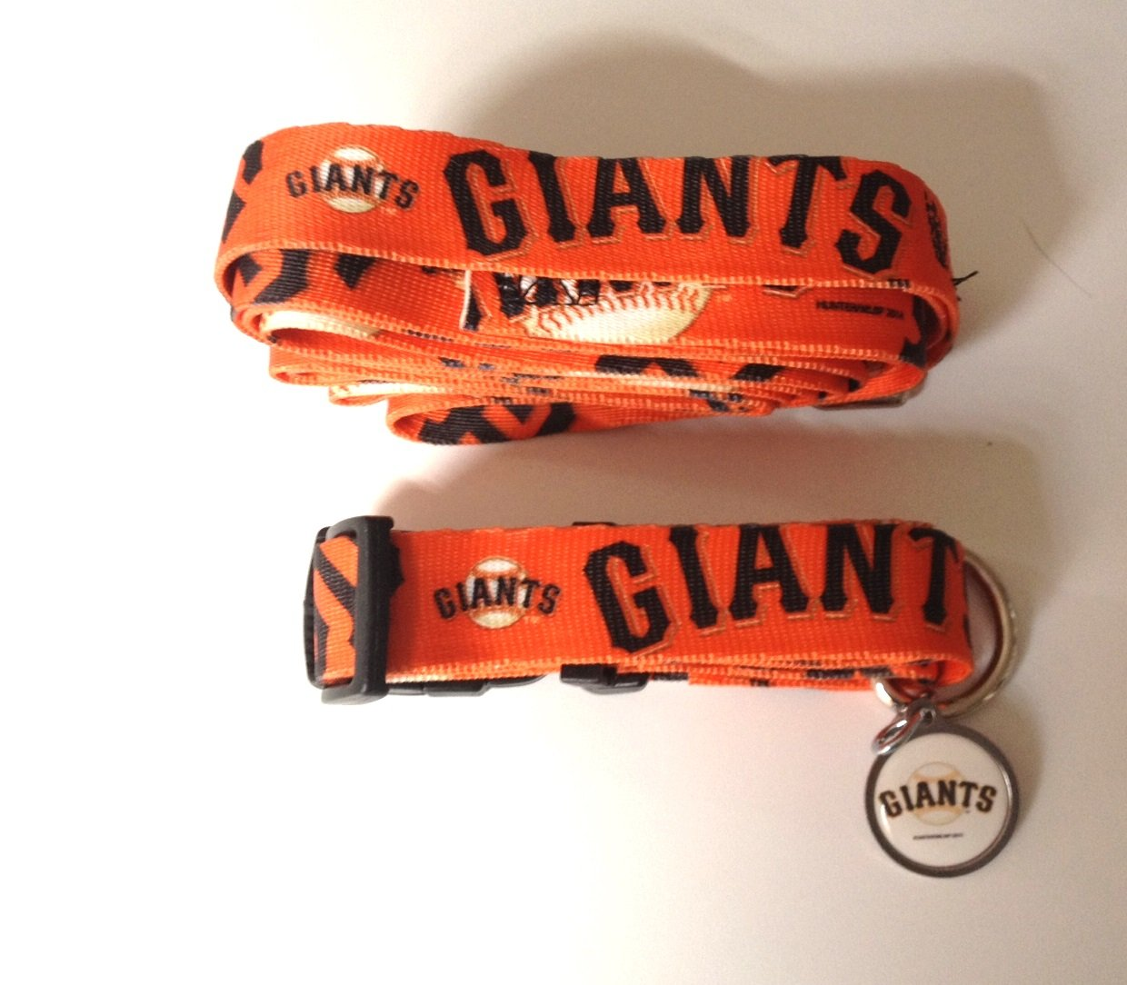 San Francisco Giants Pet Dog Leash Set Collar ID Tag Large