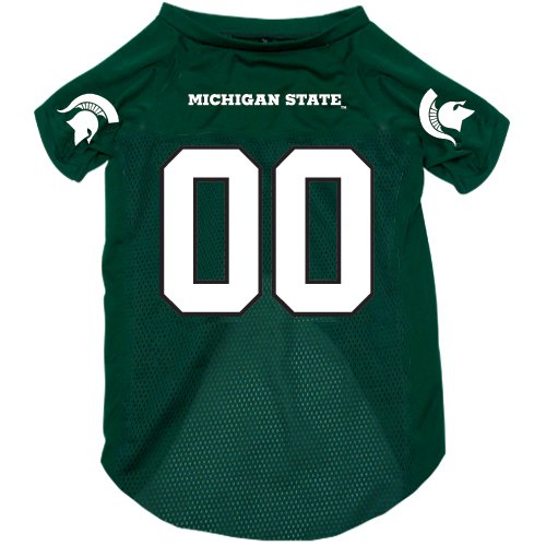 Michigan State Spartans Pet Dog Football Jersey Large