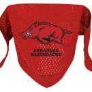 Arkansas University Razorbacks Pet Dog Football Jersey Bandana S/M
