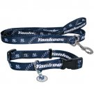 NY New York Yankees Pet Dog Leash Set Collar ID Tag Large