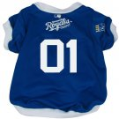 Kansas City Royals Pet Dog Baseball Jersey w/Buttons XL