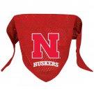 Nebraska University Cornhuskers Pet Dog Football Jersey Bandana M/L