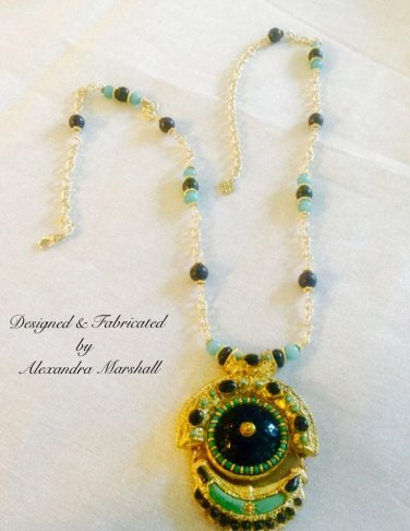 """Bleu Mercurie"" Aqua Agate and Blue Lapis Lazuli necklace $369"