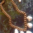 Five Favulous Gigantic China Seas Baroque Pearls Chunky 22K Overlay Necklace $269