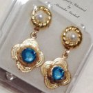 Swarovski Crystal Pearl Earrings Choice of Posts or Clips & Colors $39