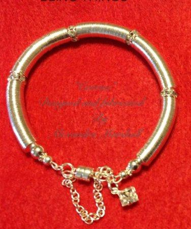 Swarovski Crystal and Silver Bead Cap bracelet  $59