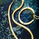 Swarovski Crystal and Gold Plated Bead Caps Bracelet and Necklace set $149