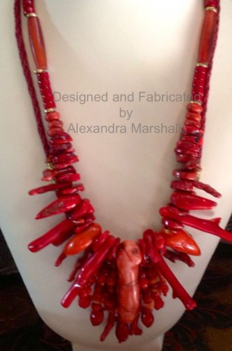 Two Red Coral Necklaces $259