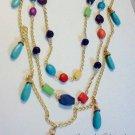 White Turquoise, Blue Magnesite Tear Drop 2 piece Necklace set $169