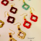 Stone Clover Shaped Earrings Choice of Color $19