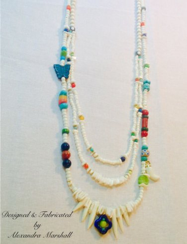 Set of Long Necklaces w/ African Trade Beads, Bone, Horn, & Shell $329