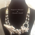 Freshwater Pearl with Giant Natural Biwa Pearl Necklace $209