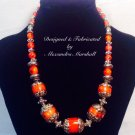 Artian Antique Tibetan Coral and Silver Bead Necklace $329