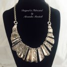 """""""Fragments Collection"""" Upcycled Antique Silver Drape Necklace $59"""