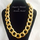 Classic Chunky Lightweight Textured 18K Clad Overlay Necklace $39