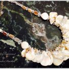 Crystal & Mother of Pearl Shell Necklace $109