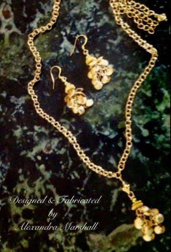 "30"" Florentine Gold Overlay Tassel Necklace & Earring Set $89."