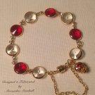 Swarovski Crystal Rivoli Link Siam Crystal Charm Red & Clear Bracelet $49